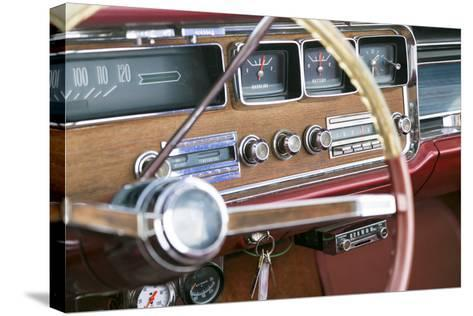 Interior of an Old Classic Car, Tucumcari, New Mexico, USA. Route 66-Julien McRoberts-Stretched Canvas Print