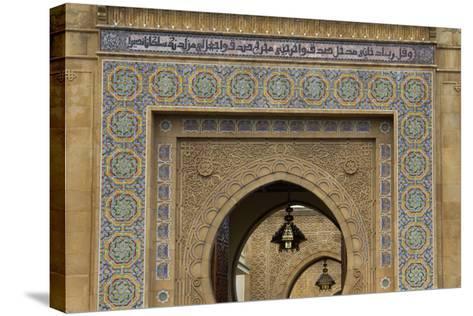Morocco, Rabat. Ornate Gate of Royal Palace of Rabat-Kymri Wilt-Stretched Canvas Print
