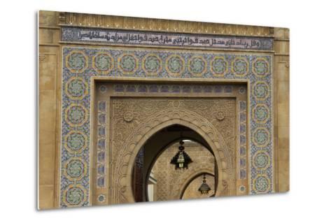 Morocco, Rabat. Ornate Gate of Royal Palace of Rabat-Kymri Wilt-Metal Print