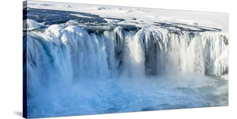 Godafoss Waterfall of Iceland During Winter-Martin Zwick-Stretched Canvas Print