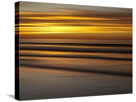 USA, California, La Jolla, Abstract of Incoming Waves at Sunset-Ann Collins-Stretched Canvas Print