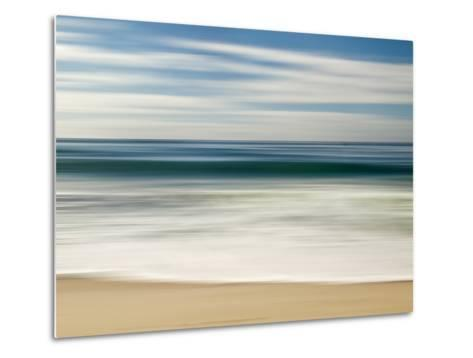 USA, California, La Jolla, Abstract Image of Blurred Wave at Marine St. Beach-Ann Collins-Metal Print