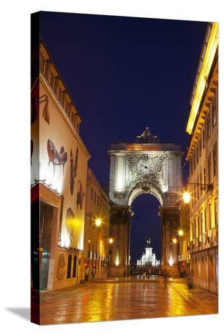 Lisbon, Rua Augusta-Terry Eggers-Stretched Canvas Print