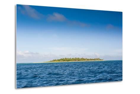 Little Island with a White Sand Beach in Ha'Apai Islands, Tonga, South Pacific-Michael Runkel-Metal Print