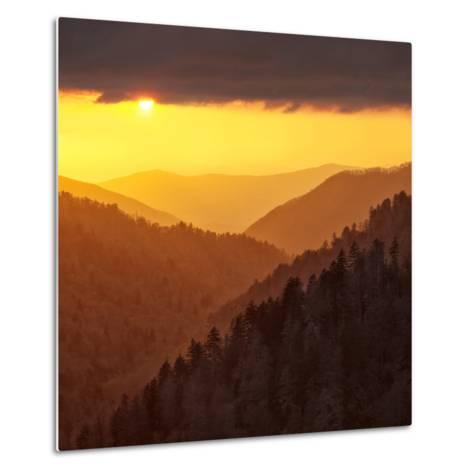 Sunset Light Reflected by Clouds Fills Valley with Warm Light-Ann Collins-Metal Print