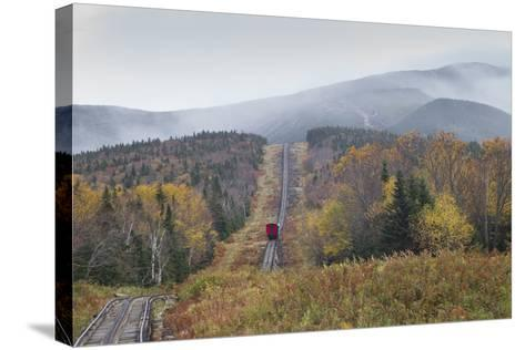 USA, New Hampshire, White Mountains, Bretton Woods, Mount Washington Cog Railway-Walter Bibikow-Stretched Canvas Print