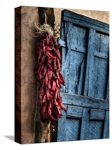 USA, New Mexico, Taos, Gate and Ristra-Ann Collins-Stretched Canvas Print