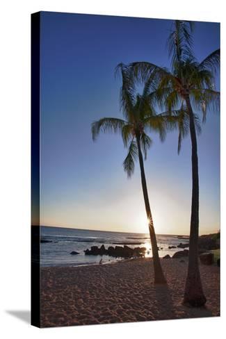 USA, Kauai, Evening Light on the Westside of Kauai-Terry Eggers-Stretched Canvas Print
