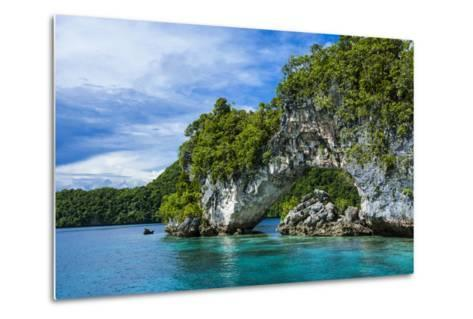 Rock Arch in the Rock Islands, Palau, Central Pacific-Michael Runkel-Metal Print