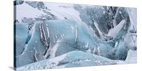 Svinafellsjoekull Glacier in Vatnajokull During Winter. Glacier Front and Icefall-Martin Zwick-Stretched Canvas Print