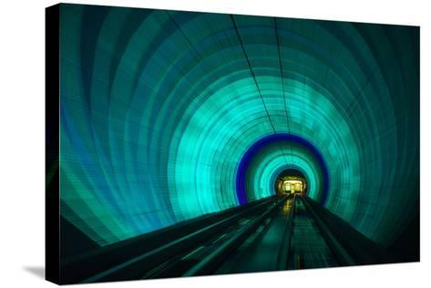 Singapore. Colorful Railroad Tunnel under a River-Jaynes Gallery-Stretched Canvas Print