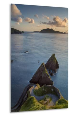 Sunset over Windy Road to Dunquin Harbor, Dunquin, County Kerry, Republic of Ireland-Brian Jannsen-Metal Print