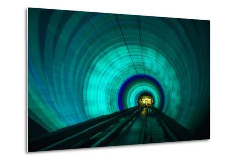 Singapore. Colorful Railroad Tunnel under a River-Jaynes Gallery-Metal Print