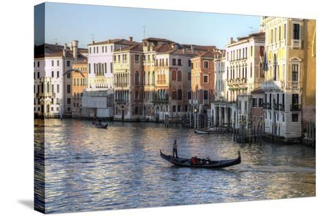 Gondolas Along the Grand Canal, Venice, Italy-Darrell Gulin-Stretched Canvas Print