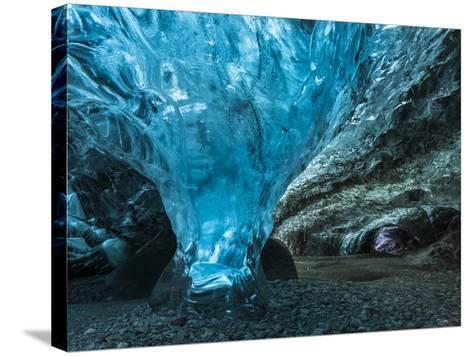 Ice Cave in the Glacier Breidamerkurjokull in Vatnajokull National Park-Martin Zwick-Stretched Canvas Print