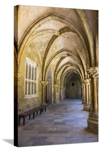 Portugal, Coimbra. Old Cathedral Cloister. Archways, Walking Paths, Courtyard-Emily Wilson-Stretched Canvas Print