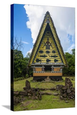 Old Bai, Chief's House the Island of Babeldaob, Palau, Central Pacific-Michael Runkel-Stretched Canvas Print