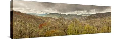 USA, North Carolina, Cherokee, Panoramic View from the Blue Ridge Parkway-Ann Collins-Stretched Canvas Print