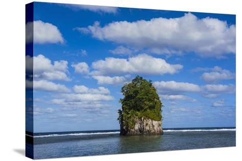 Single Rock at Coconut Point in Tutuila Island, American Samoa, South Pacific-Michael Runkel-Stretched Canvas Print