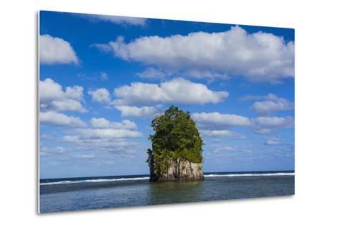 Single Rock at Coconut Point in Tutuila Island, American Samoa, South Pacific-Michael Runkel-Metal Print