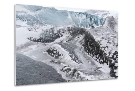 Skaftafelljokull Glacier in Vatnajokull During Winter-Martin Zwick-Metal Print