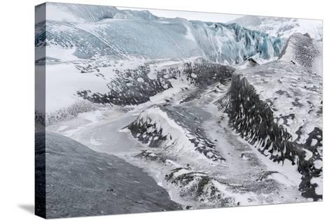Skaftafelljokull Glacier in Vatnajokull During Winter-Martin Zwick-Stretched Canvas Print