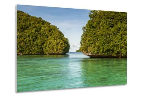 Little Rock Islet in the Famous Rock Islands, Palau, Central Pacific-Michael Runkel-Metal Print