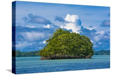 Little Rock Islet in the Famous Rock Islands, Palau, Central Pacific-Michael Runkel-Stretched Canvas Print