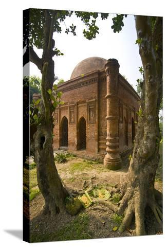 Old Mosque in Soneragon, Bangladesh, Asia-Michael Runkel-Stretched Canvas Print