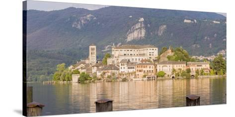 Panorama. Isola San Giulio. San Giulio Island. Lake Orta. Piedmont, Italy-Tom Norring-Stretched Canvas Print