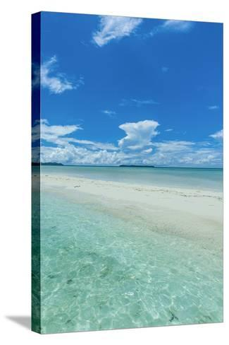 Little Sand Strip Appearing in Low Tide at the Rock Islands, Palau, Central Pacific-Michael Runkel-Stretched Canvas Print