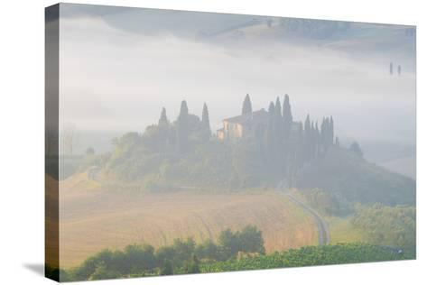 Italy, Tuscany. Belvedere House in Morning Fog-Jaynes Gallery-Stretched Canvas Print