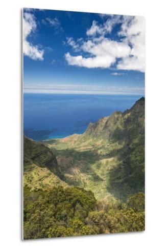 Hawaii, Kauai, Kokee State Park, View of the Kalalau Valley from Pu'U O Kila Lookout-Rob Tilley-Metal Print