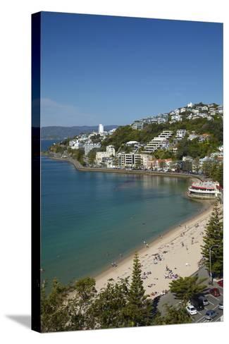 Oriental Bay, Wellington, North Island, New Zealand-David Wall-Stretched Canvas Print