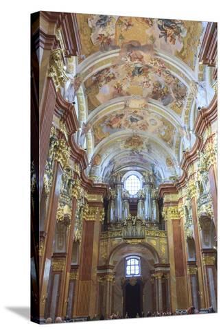 Organ. Church of the Abbey. Melk Abbey. Melk. Austria-Tom Norring-Stretched Canvas Print
