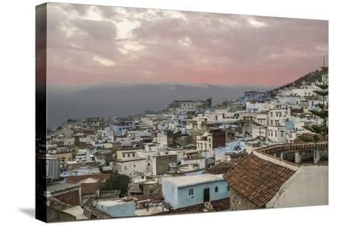 Morocco, Chaouen. Range of the Rif Mountains in the Background-Emily Wilson-Stretched Canvas Print