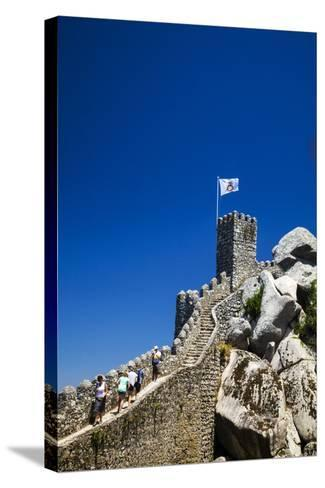 Portugal, Sintra, Castelo Dos Mouros and Quinta Da Regaleira-Terry Eggers-Stretched Canvas Print