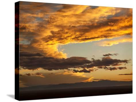 USA, Colorado, San Juan Mountains. Sunset across the San Luis Valley-Ann Collins-Stretched Canvas Print
