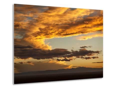 USA, Colorado, San Juan Mountains. Sunset across the San Luis Valley-Ann Collins-Metal Print