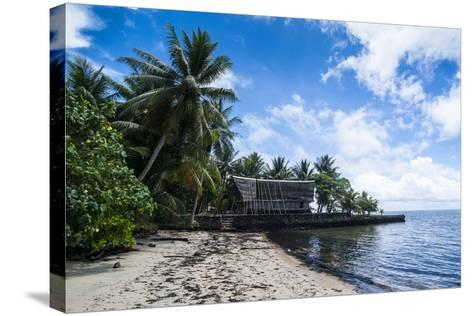 Traditional Thatched Roof Hut, Yap Island, Micronesia-Michael Runkel-Stretched Canvas Print