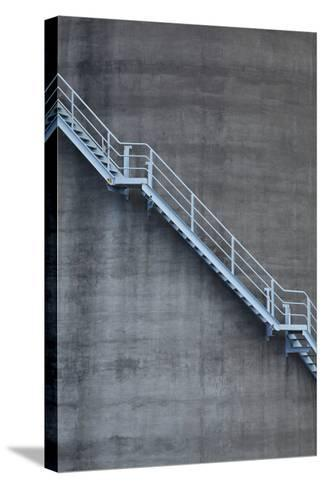 Stairs on Old Silo at Silo Park, Wynyard Quarter, Auckland, North Island, New Zealand-David Wall-Stretched Canvas Print