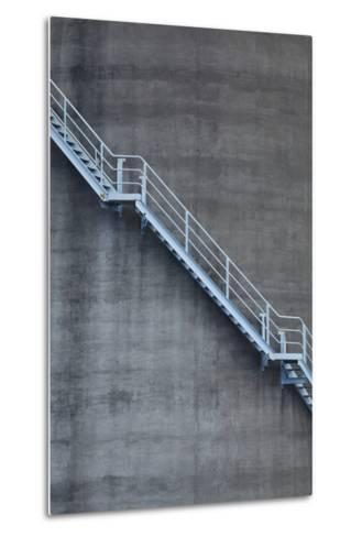 Stairs on Old Silo at Silo Park, Wynyard Quarter, Auckland, North Island, New Zealand-David Wall-Metal Print