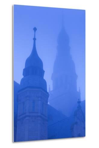 Germany, Rhineland-Pfalz, Speyer, Dom Cathedral, Dawn, Fog-Walter Bibikow-Metal Print