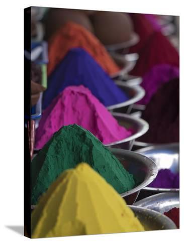 Holi Powder Paint for Sale in Mysore, Karnataka, India-David H^ Wells-Stretched Canvas Print