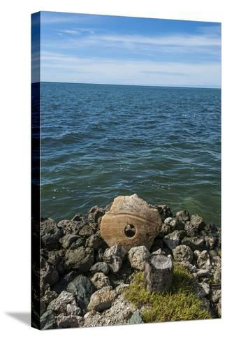 Stone Money on the Island of Yap, Micronesia-Michael Runkel-Stretched Canvas Print