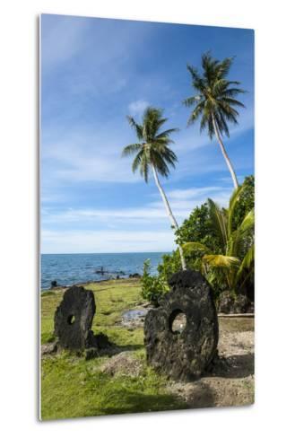 Stone Money on the Island of Yap, Micronesia-Michael Runkel-Metal Print