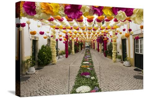 Trays Festival, Neighborhoods are Colorfully Decorated with Paper Flowers and Garlands-Emily Wilson-Stretched Canvas Print
