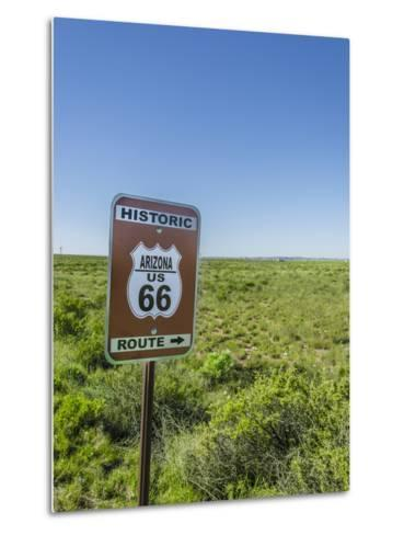 Historic Old Route 66 Passed Through Petrified Forest National Park, Az-Jerry Ginsberg-Metal Print