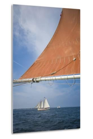 Massachusetts, Cape Ann, Annual Schooner Festival, Schooner Rigging-Walter Bibikow-Metal Print