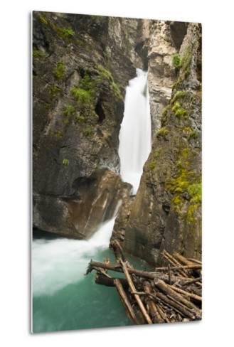 Johnston Falls and Creek, Johnston Canyon, Banff National Park, Alberta, Canada-Michel Hersen-Metal Print